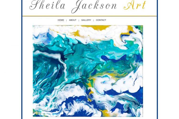 Shiela Jackson Art Website designed by Centaro